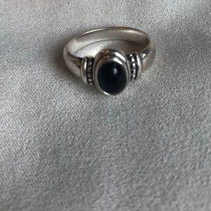 James Avery black onyx ring
